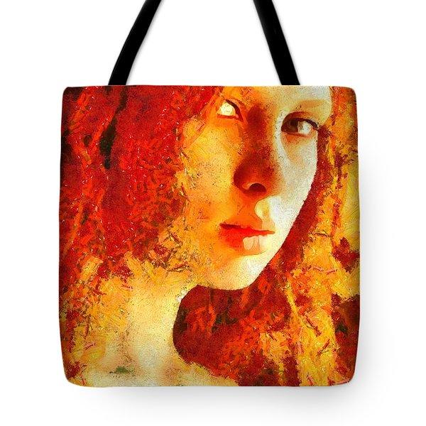 Redhead Tote Bag by Gun Legler