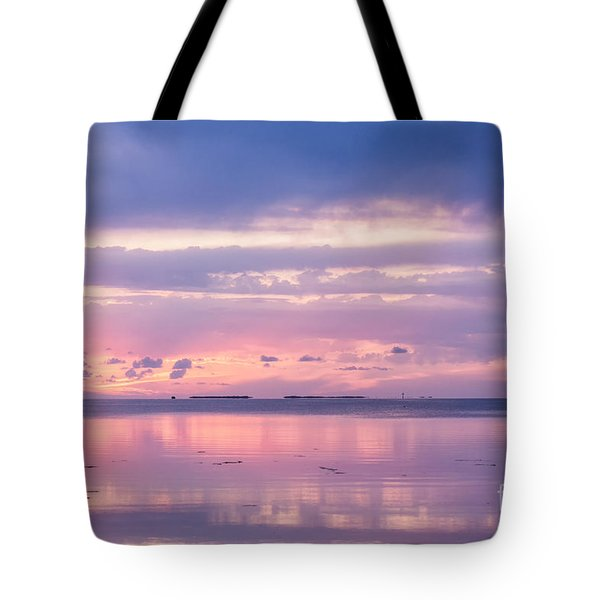 Reflections At Sunset In Key Largo Tote Bag