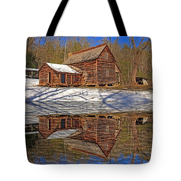 Tote Bag featuring the photograph Reflections by Geraldine DeBoer