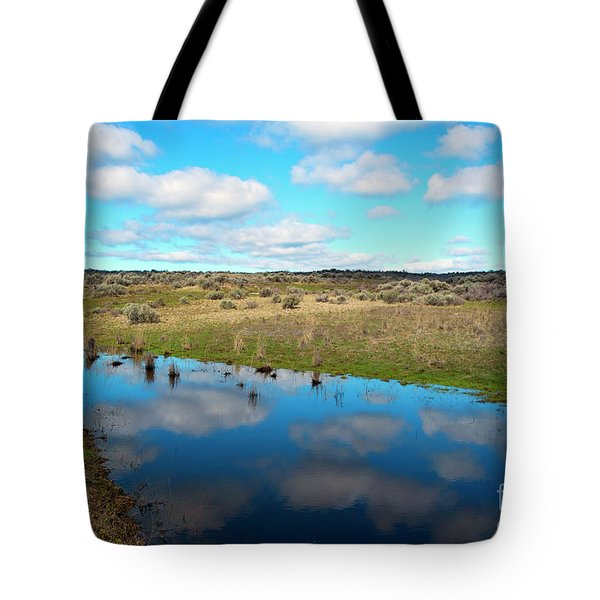 Tote Bag featuring the photograph Reflections Of Spring by Mike Dawson