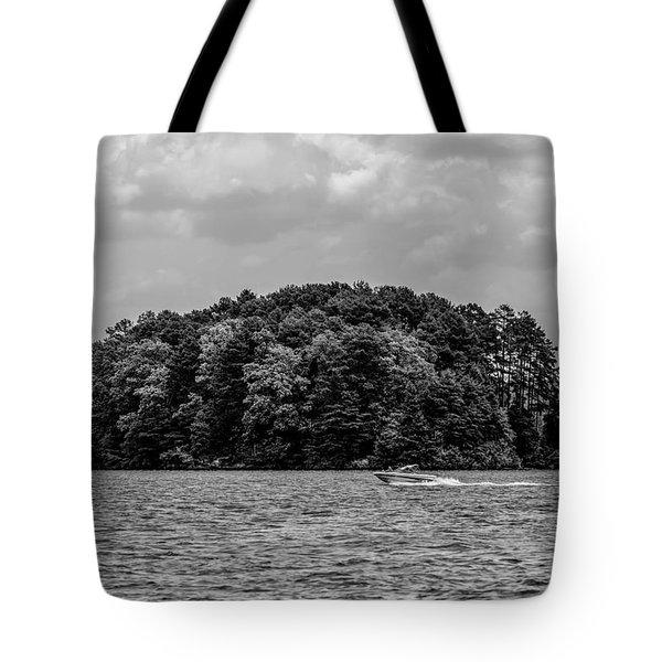 Relaxing On Lake Keowee In South Carolina Tote Bag