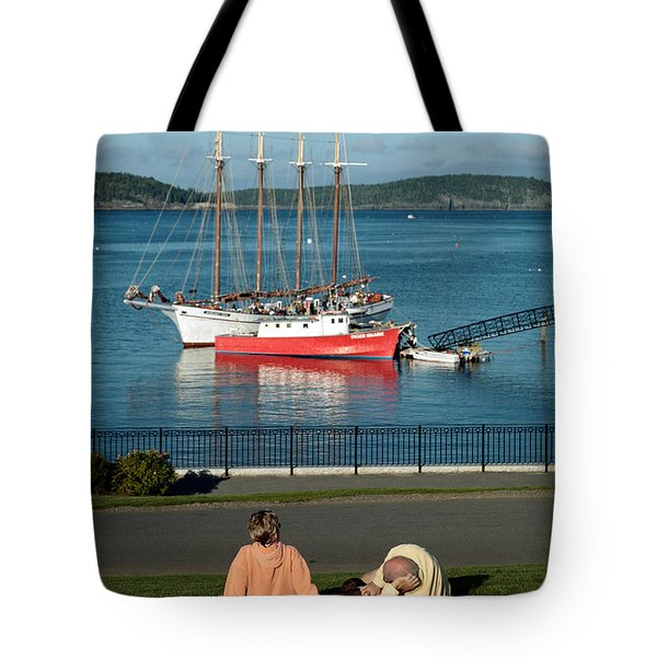 Relaxing On The Coast Tote Bag