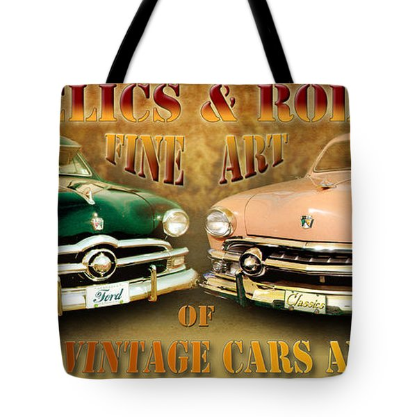 Relics And Rods Tote Bag