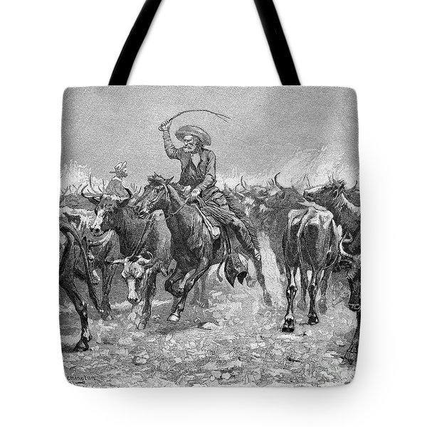Remington: Cowboys, 1888 Tote Bag by Granger