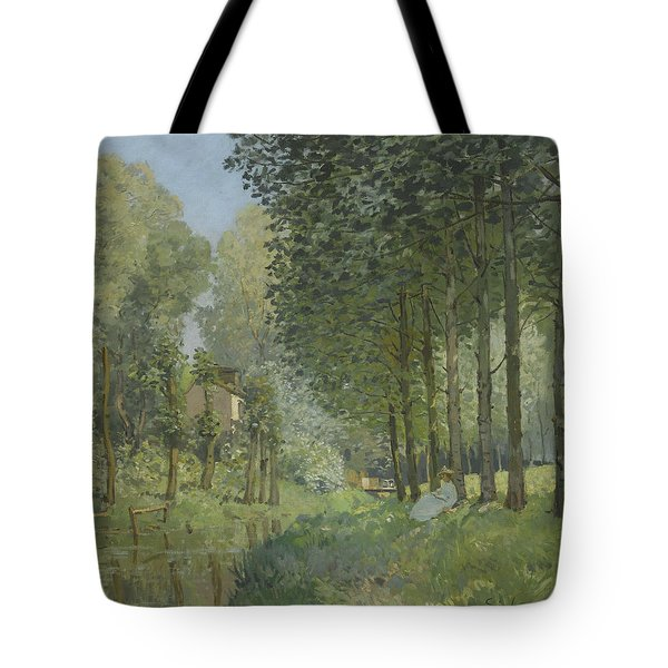 Rest Along The Stream  Tote Bag by Alfred Sisley