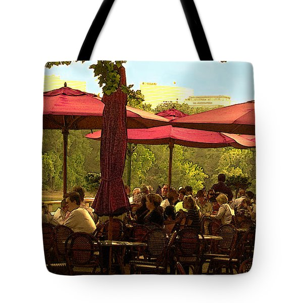 Restaurant In Georgetown Tote Bag by Madeline Ellis