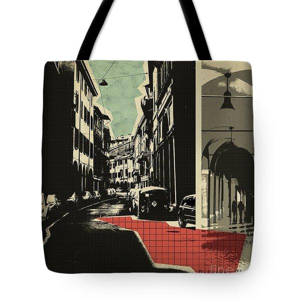 retro postcard of Bologna Tote Bag
