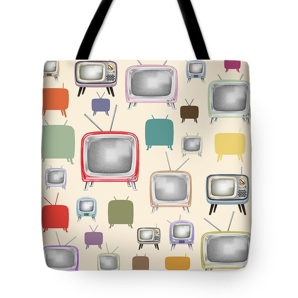 retro TV pattern  Tote Bag