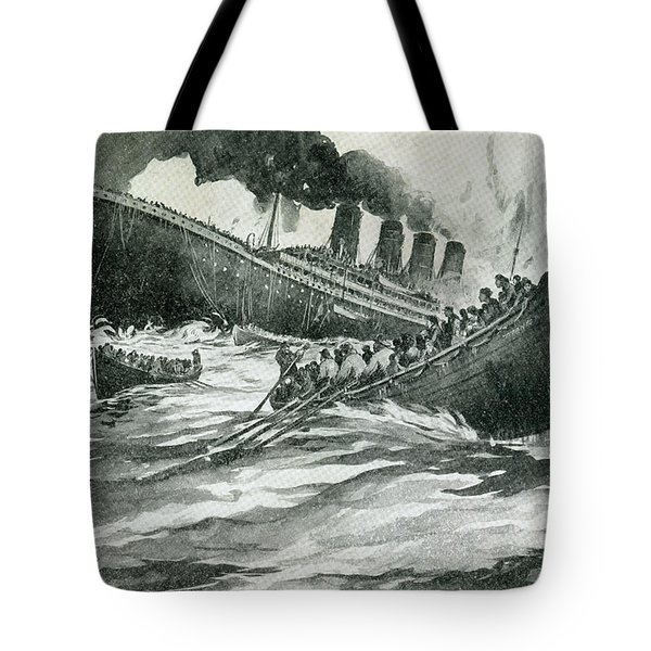 Rms Titanic Of The White Star Line Tote Bag