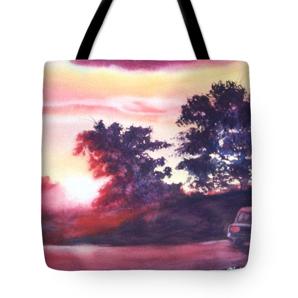 Road To Fargo Tote Bag by Marilyn Jacobson