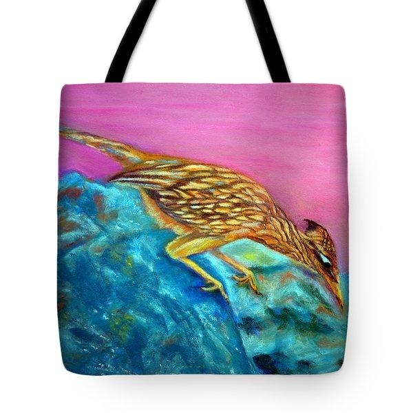 Roadrunner On Point  Pastel Tote Bag by Antonia Citrino