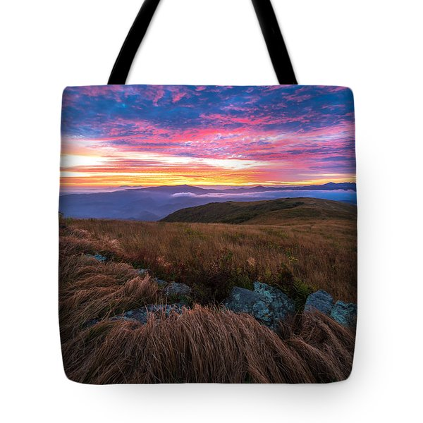 Tote Bag featuring the photograph Roan Mountain Sunrise by Serge Skiba