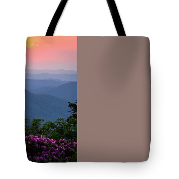 Tote Bag featuring the photograph Roan Mountain Sunset by Serge Skiba