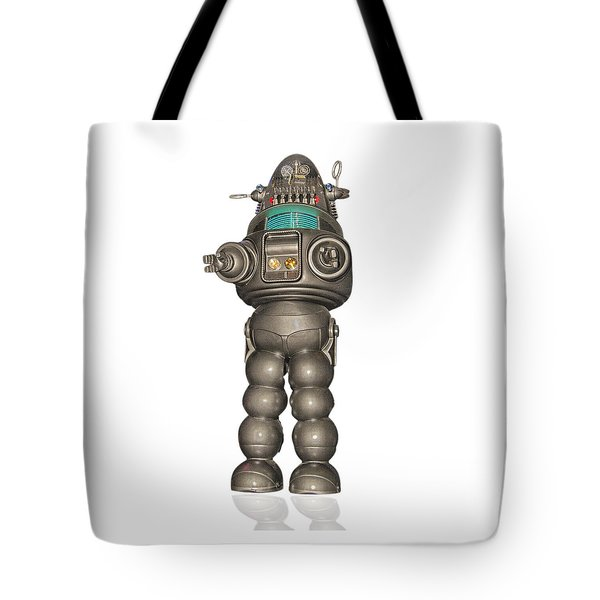 Robby The Robot Tote Bag by Gary Warnimont