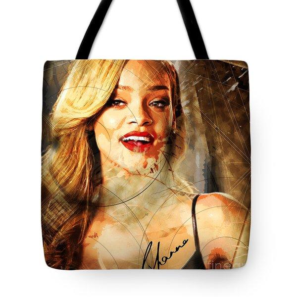 Robyn Rihanna Fenty - Rihanna Tote Bag by Sir Josef - Social Critic -  Maha Art