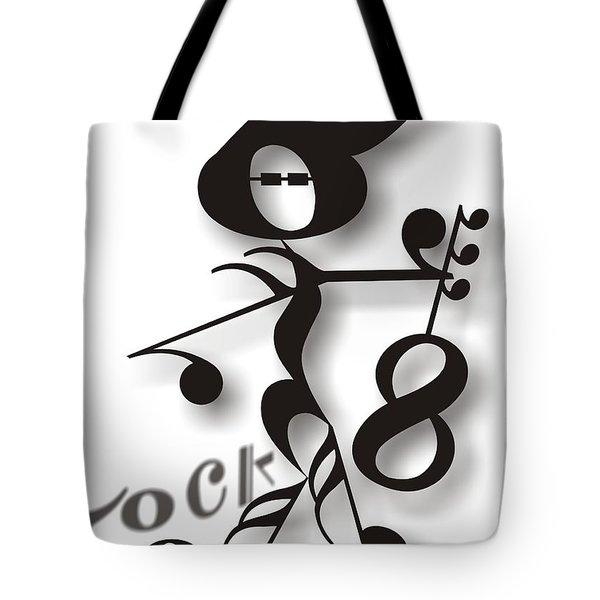 Rock 'n Roll Tote Bag by Maria Watt
