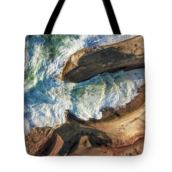 Rocks And Waves Tote Bag