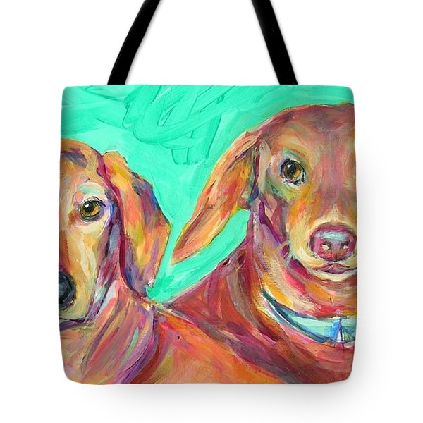 Rocky And Hershey Tote Bag