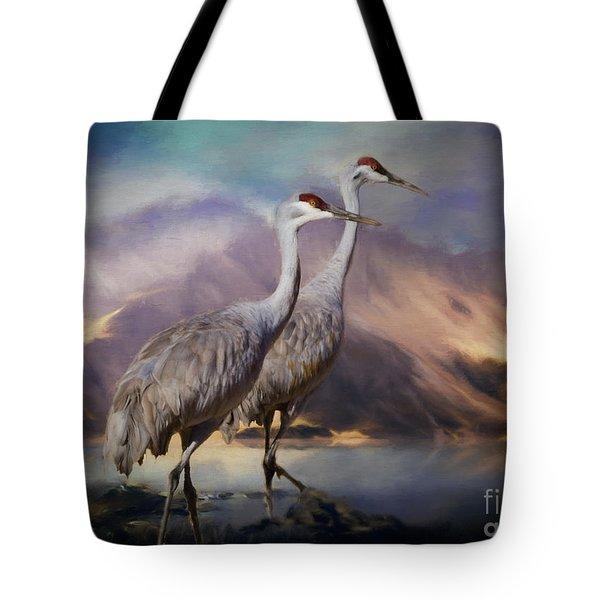 Rocky Mountain Sandhill Cranes Tote Bag
