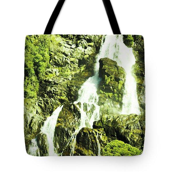 Rocky Mountain Waterfall Tote Bag