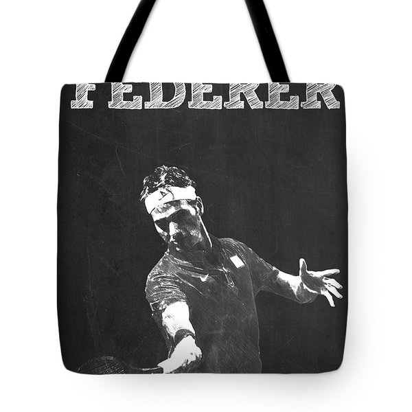 Roger Federer Tote Bag by Semih Yurdabak