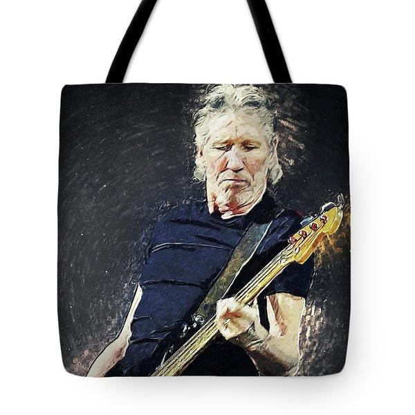 Tote Bag featuring the digital art Roger Waters by Taylan Apukovska
