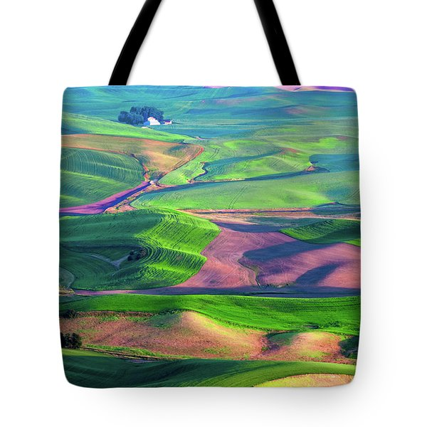 Green Hills Of The Palouse Tote Bag by James Hammond