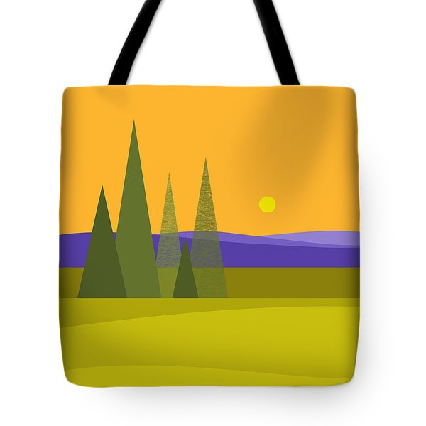 Rolling Hills Tote Bag by Val Arie
