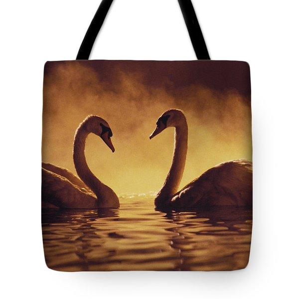 Romantic African Swans Tote Bag