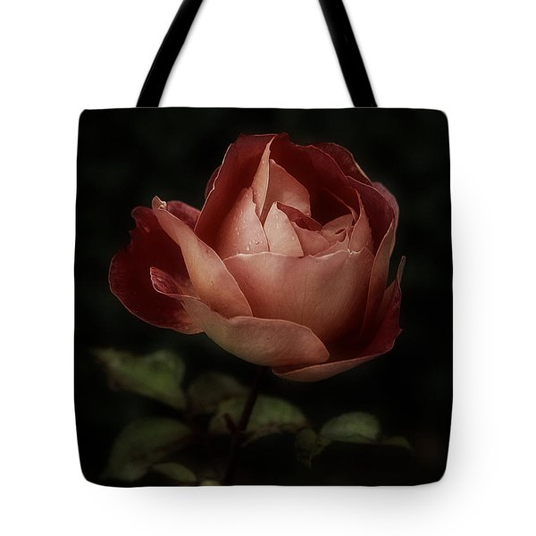 Romantic November Rose Tote Bag