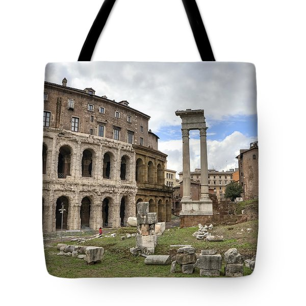 Rome - Theatre Of Marcellus Tote Bag by Joana Kruse