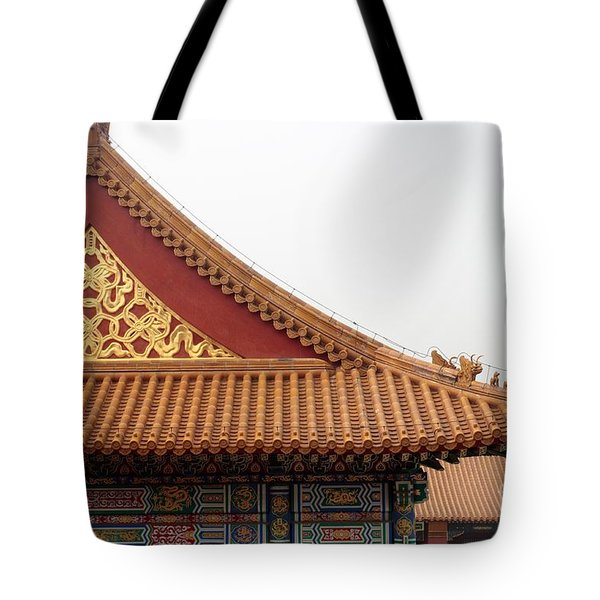 Roof Forbidden City Beijing China Tote Bag
