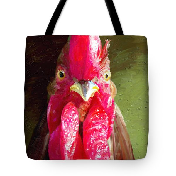 Tote Bag featuring the painting Rooster 1 by James Shepherd
