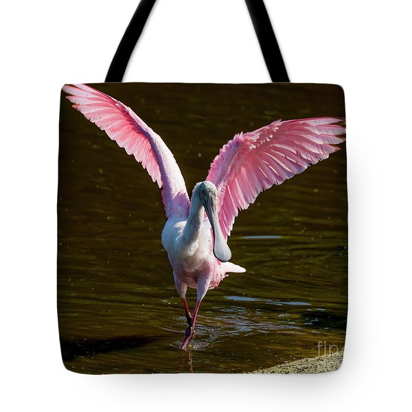 Tote Bag featuring the photograph Roseate Spoonbill by Michael D Miller
