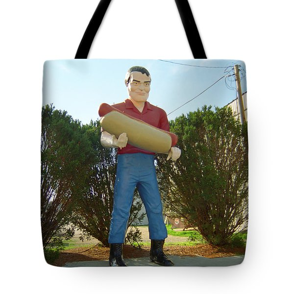 Route 66 - Atlanta Illinois Tote Bag by Frank Romeo