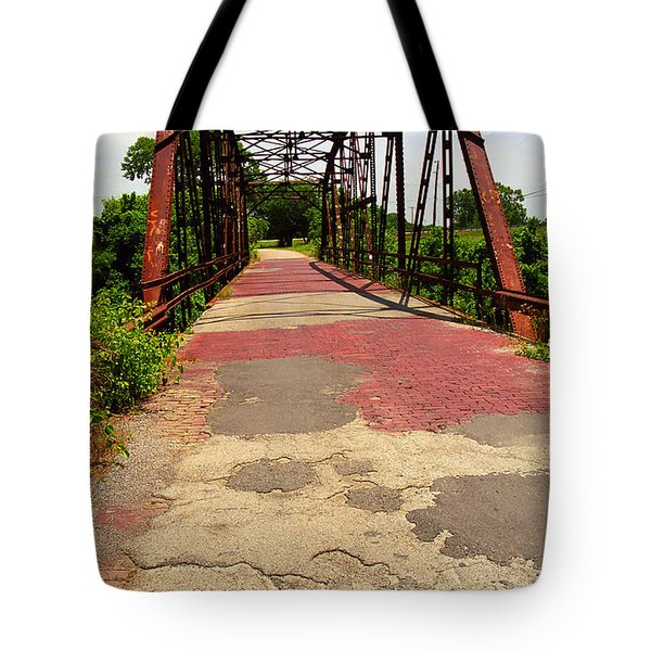 Route 66 - One Lane Bridge Tote Bag