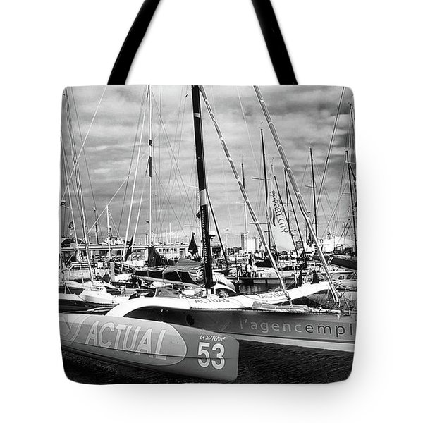 Tote Bag featuring the photograph Route Du Rhum Ready by Elf Evans