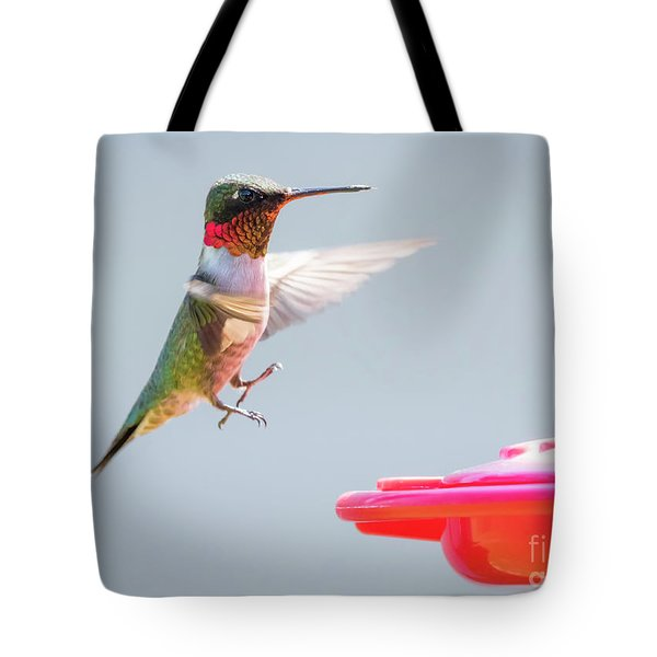 Tote Bag featuring the photograph Ruby-throated Hummingbird  by Ricky L Jones