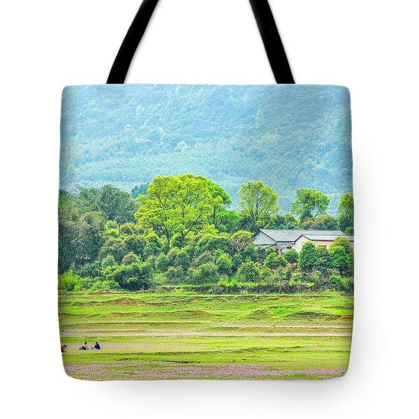 Rural Scenery In Spring Tote Bag