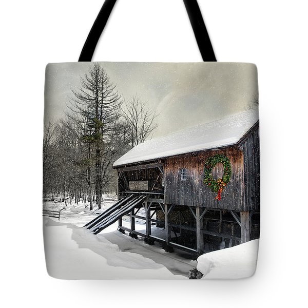Rustic Holiday Tote Bag
