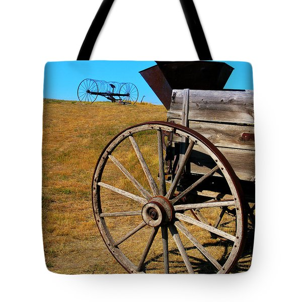 Rustic Wagon Tote Bag by Perry Webster