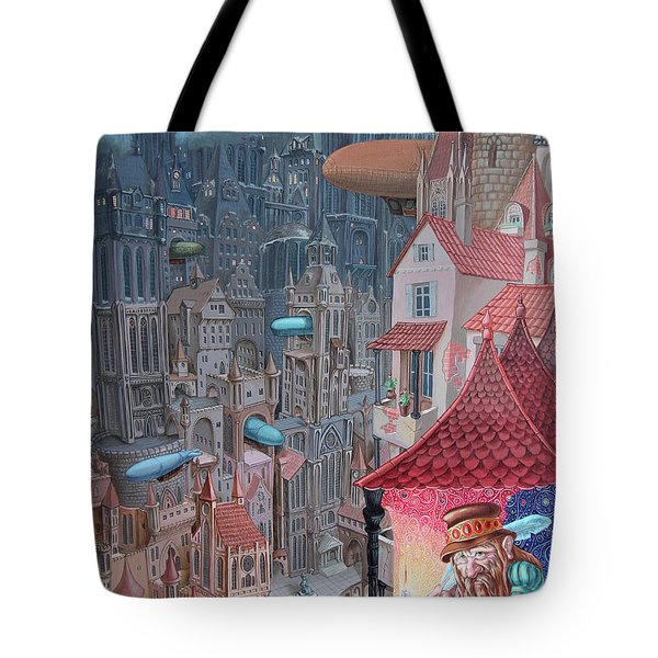 Saga Of The City Of Zeppelins Tote Bag
