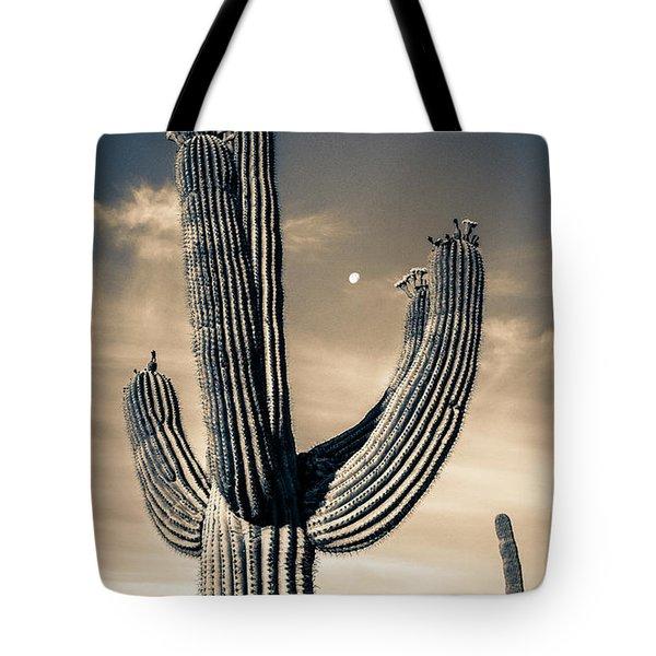 Saguaro In Bloom Tote Bag