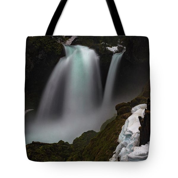 Tote Bag featuring the photograph Sahalie Falls by Cat Connor