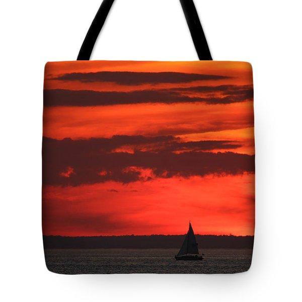 Sailboat Mount Sinai New York Tote Bag