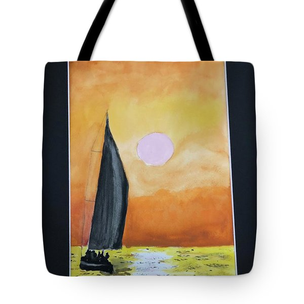 Tote Bag featuring the painting Sailing by Donald Paczynski