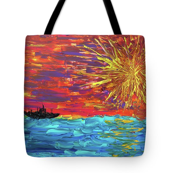 Sailing From The Sun Tote Bag by Erik Tanghe