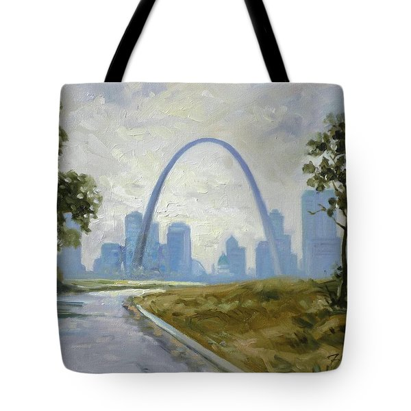 Saint Louis Panorama Tote Bag