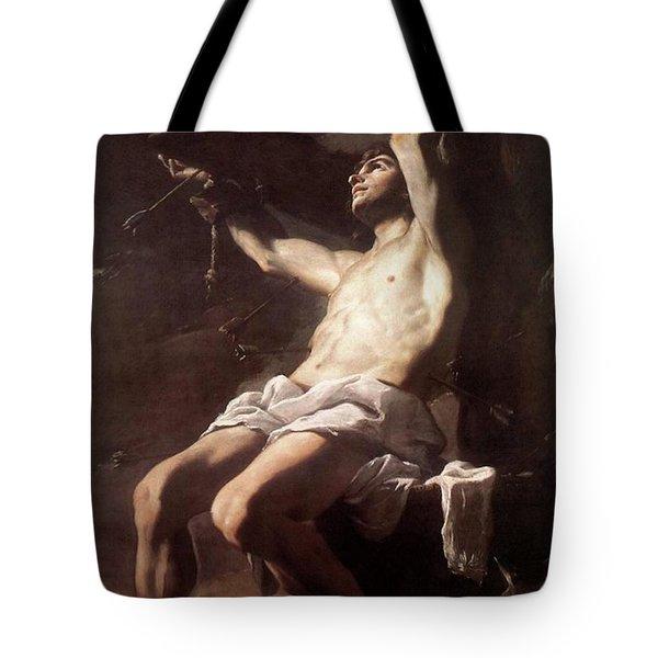 Saint Sebastian By Mattia Preti Tote Bag