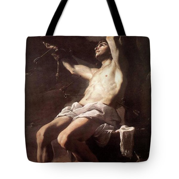 Saint Sebastian By Mattia Preti Tote Bag